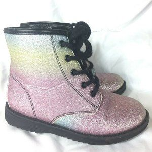Childrens Place Girls Glitter Boots Size 10